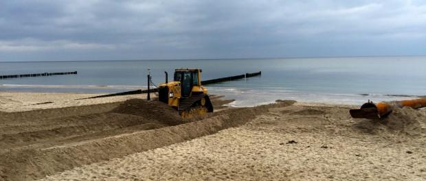 Neuer Sand für Kühlungsborner Strand