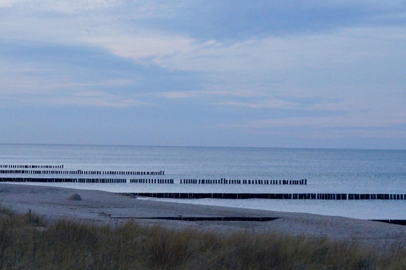 Strand von Kühlungsborn im Winter