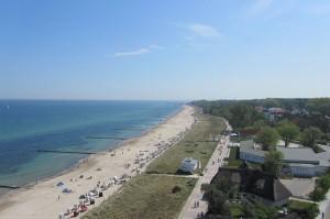 Strand in Kühlungsborn aus dem Riesenrad