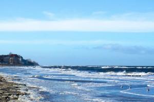 Der Ostseestrand in Kühlungsborn im Winter