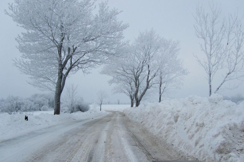 Schnee bei der Anreise