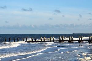 Ostsee Wellen in Kühlungsborn im Winter