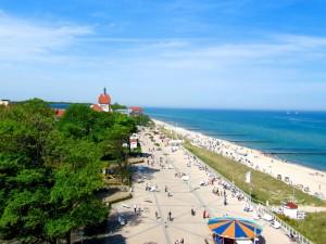 Blick auf den Baltic Platz in Kühlungsborn