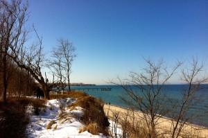 Blick Richtung Seebrücke Rerik im Winter