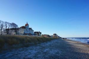Die Strandpromenade von Kühlungsborn im Winter