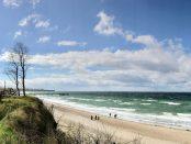 Blick auf den Strand in Rerik an der Ostsee