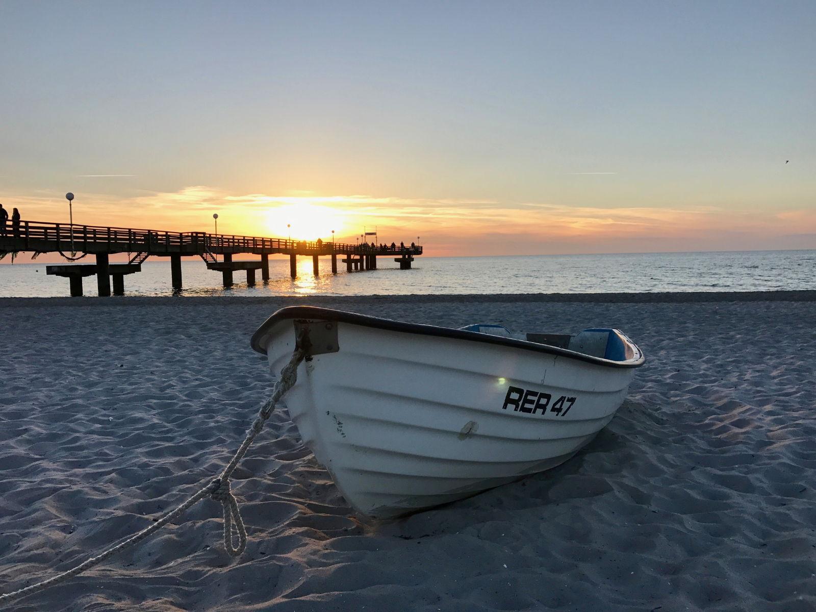 Sonnenuntergang am Strand von Rerik